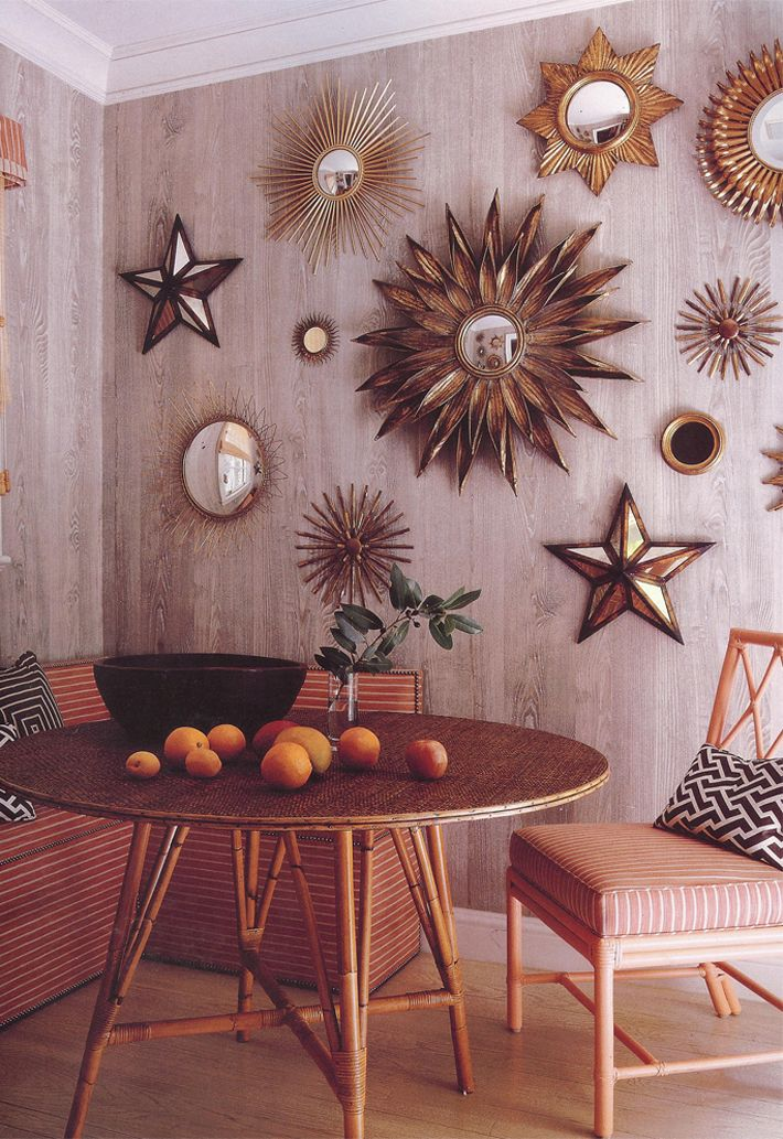 sunburst mirror collage for my living room! Doing this, starting my collection