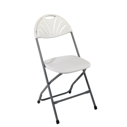 Work Smart White Plastic Chair Four Pack
