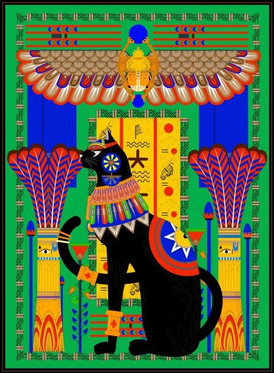 Chat Egyptien - 2000 Teile - GRAFIKA Puzzle acheter en ligne
