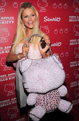 Hello Kitty Paris Hilton Three Apples