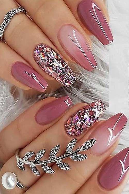2019 Ideen von Berr Pink Nail Arts und Designs für niedlichere Hände