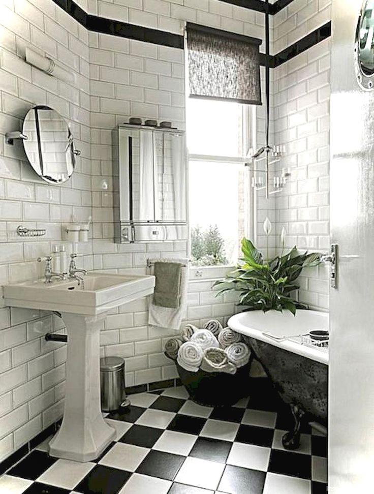 Gorgeous 99+ Luxury Black and White Bathroom Ideas https://lovelyving.com/2017/12/17/99-luxury-black-white-bathroom-ideas/