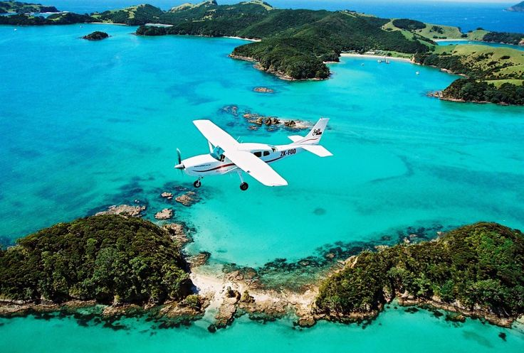 Guests arrive by seaplane