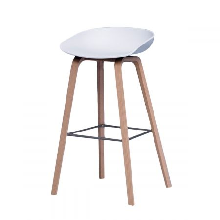 Hay Design Barhocker About A Stool AAS 32 weiss 65 cm