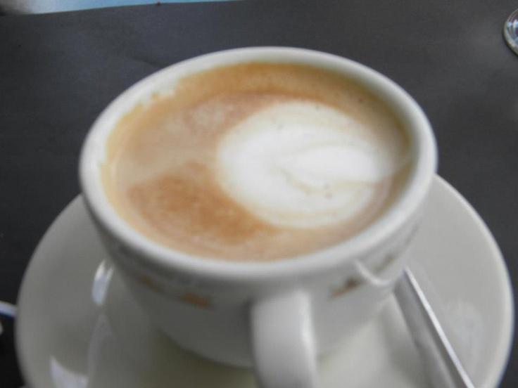 Italian cappuccino in Rome