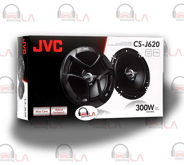"Sourcing-LA: JVC CS-J620 CAR AUDIO STEREO 6.5"" 2-WAY POWER SPEA..."