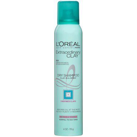 L Oreal Paris Elvive Extraordinary Clay Dry Shampoo 4 Oz Walmart Com Dry Shampoo Beauty Products Drugstore Shampoo
