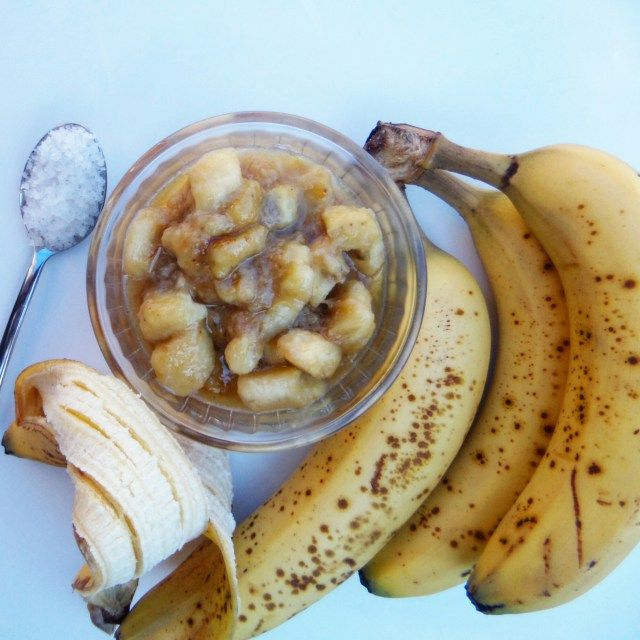 Can a banana ever be too ripe...? The answer: no. One option? Salted caramel banana sauce! Try it now, thank me later