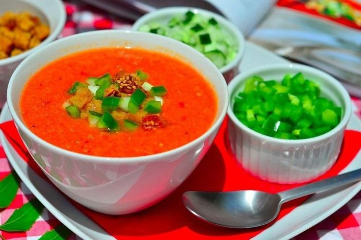 Gazpacho – Tomato Soup  #bellpepper, #cucumber, #soups, #tomato
