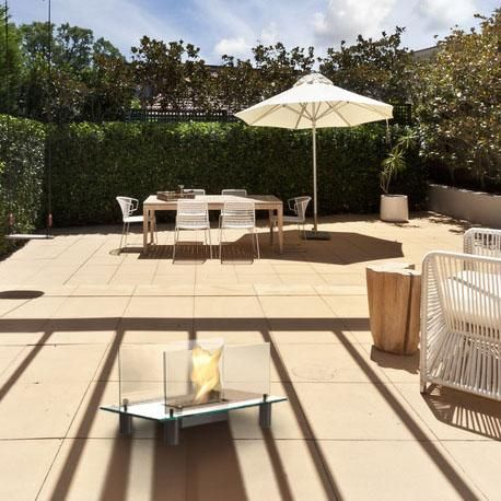 Sun, fun, relaxation and some magical flame to go with it.  http://www.biofires.com/bio-ethanol-fireplaces/37-gravity.html
