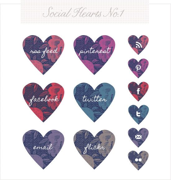 Social Hearts - cute cute cute!! Trying to  figure out this blog layout lark.. tough cookie stuff!