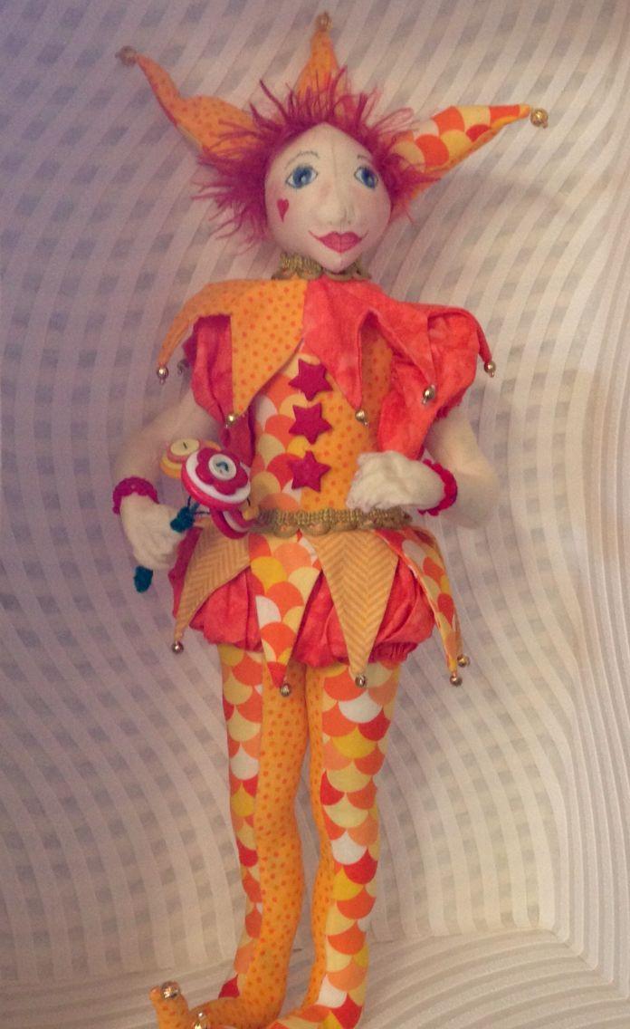 Jester art doll