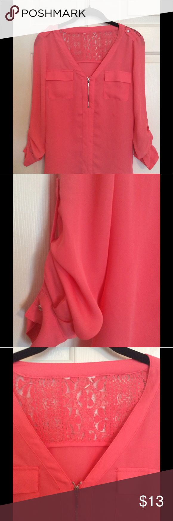 Candies Coral Blouse Candies Coral Blouse Candie's Tops Blouses