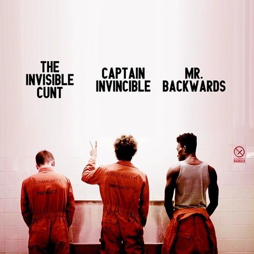 Misfits Original Cast. Robert Sheehan was the bomb!