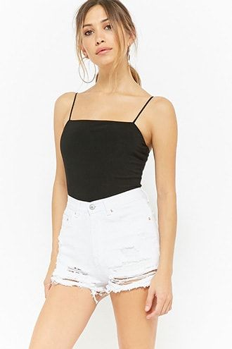 6cd41ab412e Ribbed Knit Cami Bodysuit | Products | Forever 21 bodysuit, Womens ...