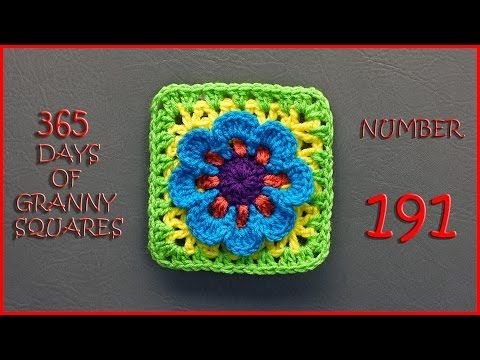 365 Days of Granny Squares Number 191 - YouTube                                                                                                                                                     More