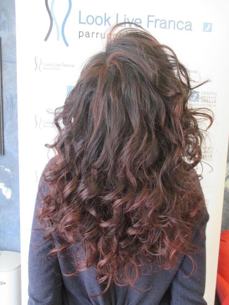 degradè joelle  nero,viola ,rosso