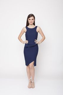 Ladies Dresses in Australia | Atomic Fitted Dress NAVY | ROMANCE