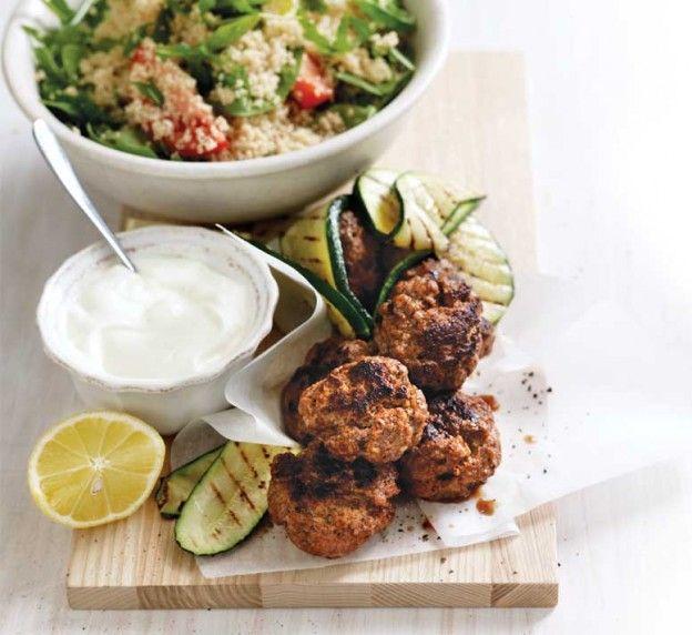 Receta baja en calorías - Hamburguesa con cuscús - www.lacomidasaludable.com