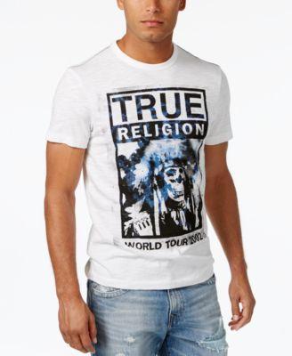 TRUE RELIGION True Religion Men'S World Tour Graphic Print T-Shirt. #truereligion #cloth #shirts