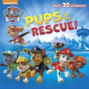 Paw Patrol Pups to the Rescue! is an 18-page book filled with stickers and bios that introduce kids to the main characters in the animated series.
