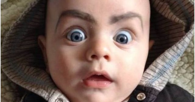 Drawing Angry Eyebrows On Kids Is The Greatest Idea Ever. It's Impossible To Not Laugh!