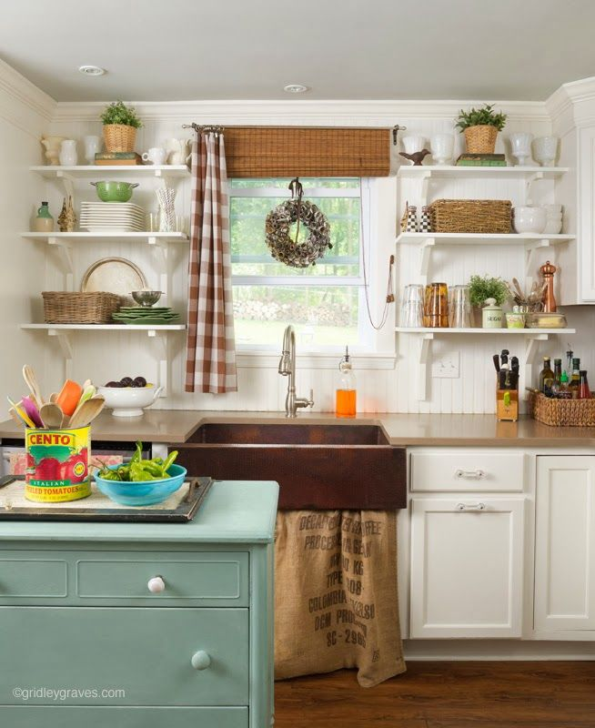 Vintage style magazine feature kitchen pinterest for Small retro kitchen