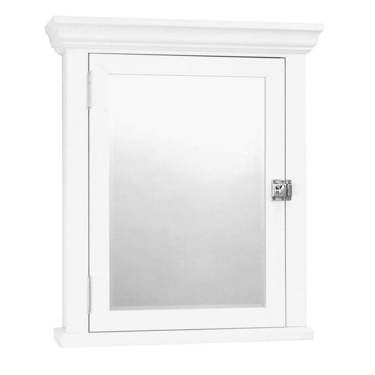 Zenith MC10WW Early American 22 in. x 27 in. Surface-Mount Medicine Cabinet in White MEDICINE CABINETS White