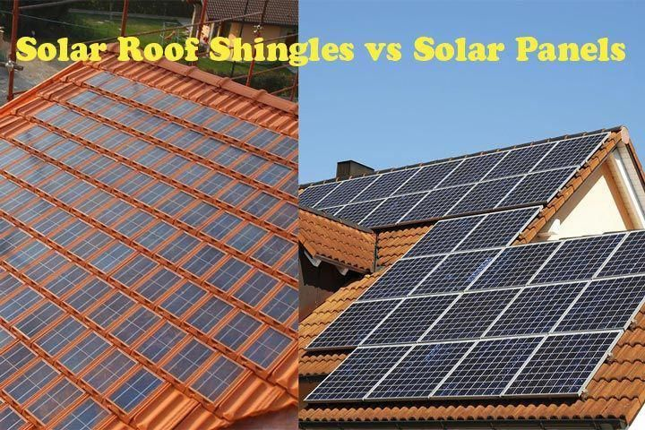 Solar Roof Shingles Vs Solar Panels Their Main Differences And Similarities Are Portrayed In Their Individual Names So Solar Panels Solar Roof Shingles Solar