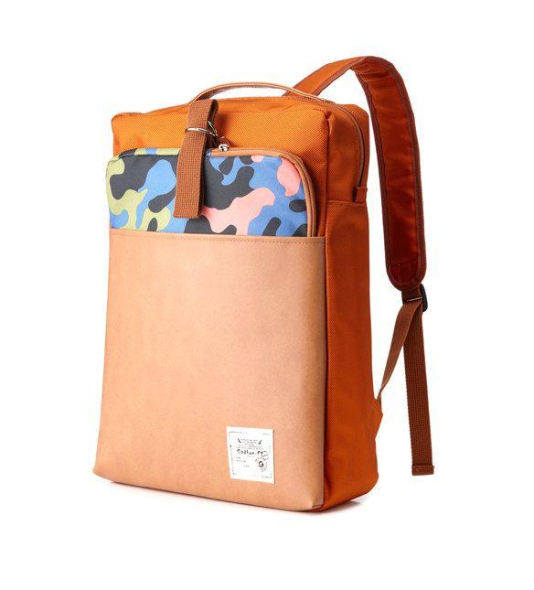 Clutch plus Backpack (Orange) by BagDoRi on Etsy