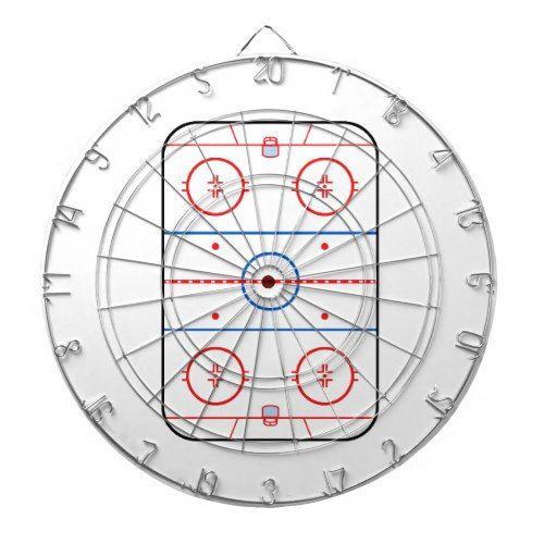 Ice Rink Diagram Hockey Game Design Dartboard