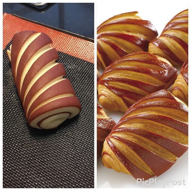 Before and After baking Pains au chocolat #instadaily #instagram #instagood #instalike #yummy #tagsforlikes