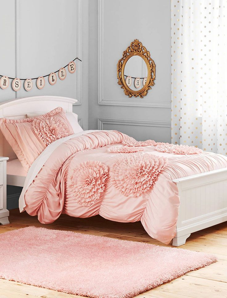 42 best kids furniture decor images on pinterest furniture better homes and gardens kids ruffled flowers bedding comforter set fandeluxe Image collections