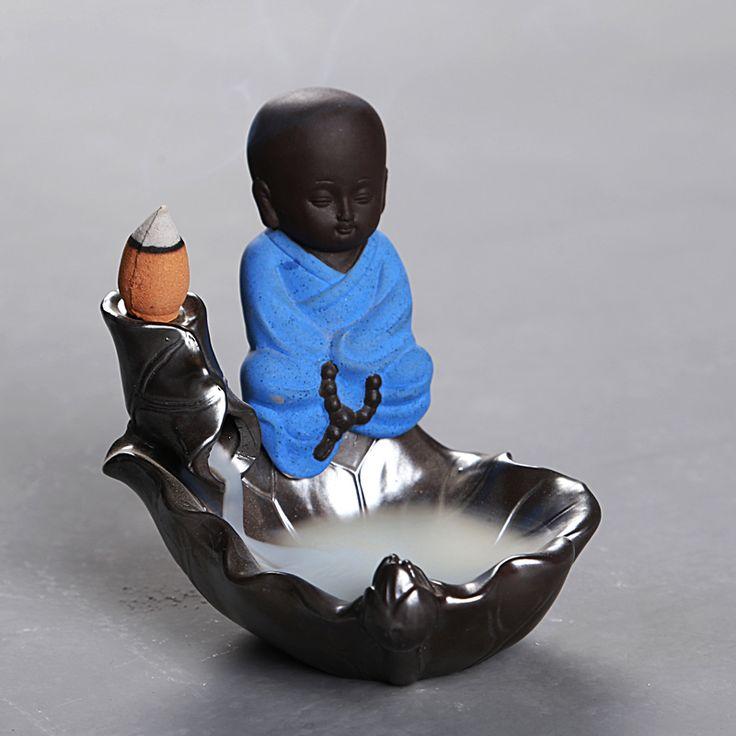 T Backflow Little Monk Incense Burners Ceramic Sandalwood Incenses Cone Holders Tea Pets Home Furnishing Articles