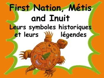 Celebrate our Canadian First Nation, Mtis and Inuit people with accurate information about their SYMBOLS AND LEGENDS!This resource is intended to support the understanding of the historical and symbolic impact of our First nations people.Learn in French the symbols and legends of: Les premires nations du Canada to support your language and social studies units, introduce essential vocabulary, stimulate oral communication and celebrate our wonderful country and heritage.