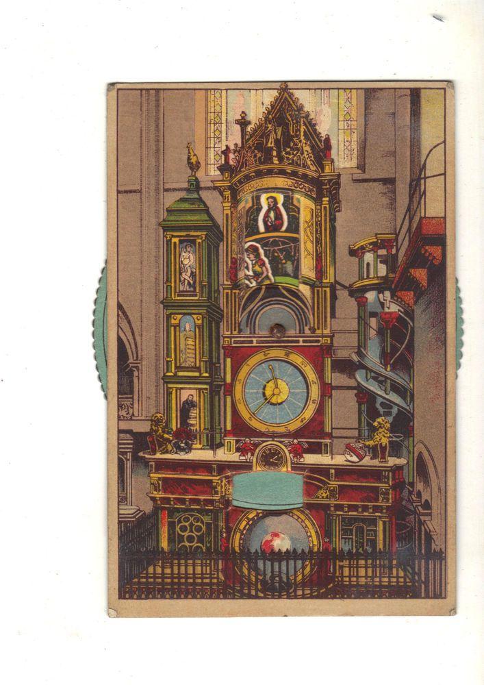 CPA A SYSTEME - L  HORLOGE ASTRONOMIQUE DE LA CATHEDRALE DE STRASBOURG