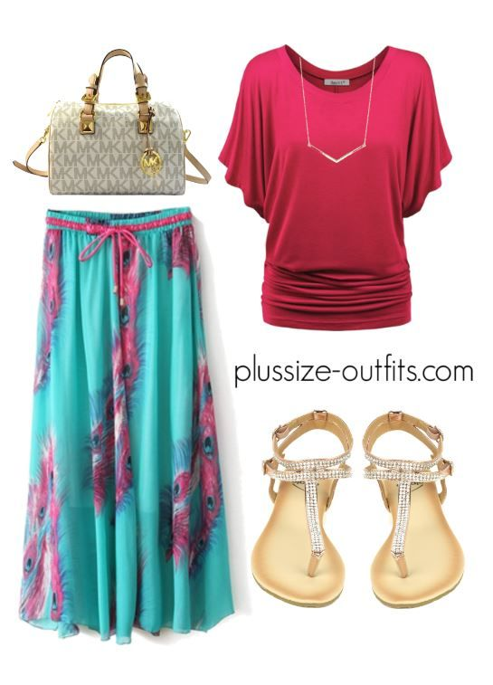 how to wear a plus size maxi skirt during summer