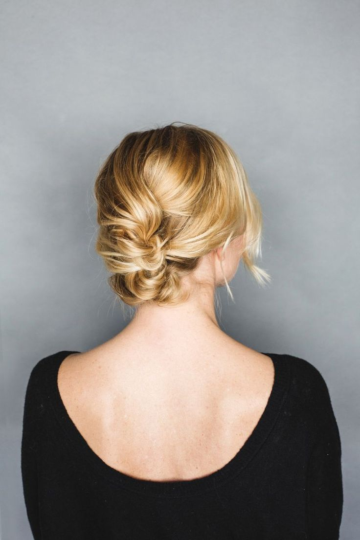 Easy and pretty short hair updo tutorial