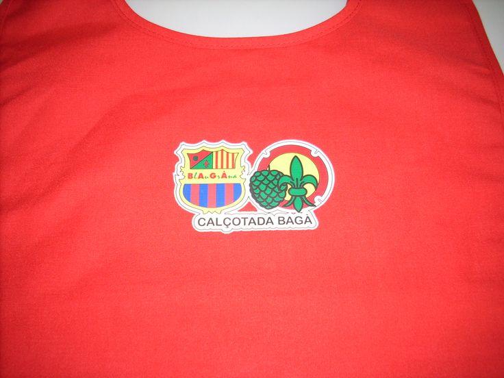 #camiseta personalizada para calçotada con #impresión #textil 100% #poliuretano. Personalización de camiseta con prensa de calor.