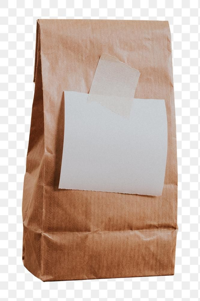 Brown Paper Bag With A White Notepaper Design Element Free Image By Rawpixel Com Felix Brown Paper Bag Note Paper Design Element