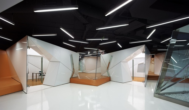 """The new """"Telecommunications and Technologies Center of Barcelona"""" (CTTI) interiors."""