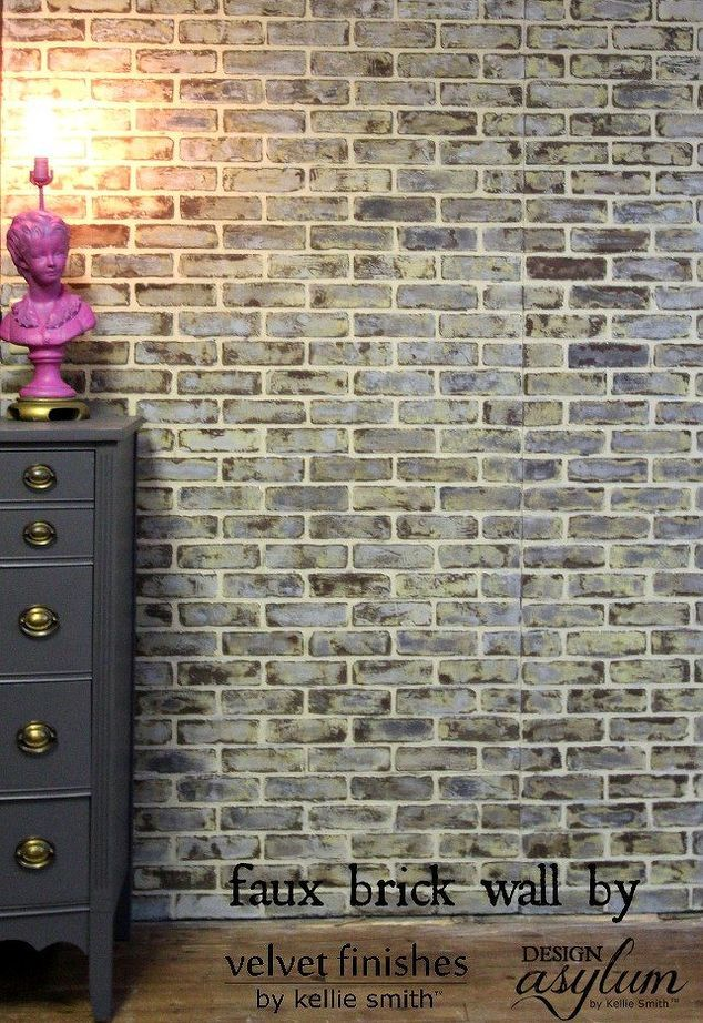 brick walls look old faux brick walls bricks and painting walls. Black Bedroom Furniture Sets. Home Design Ideas