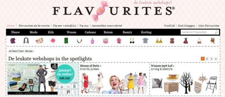 Spaanse jurk in de etalage van Flavourites ' de leukste webshops'