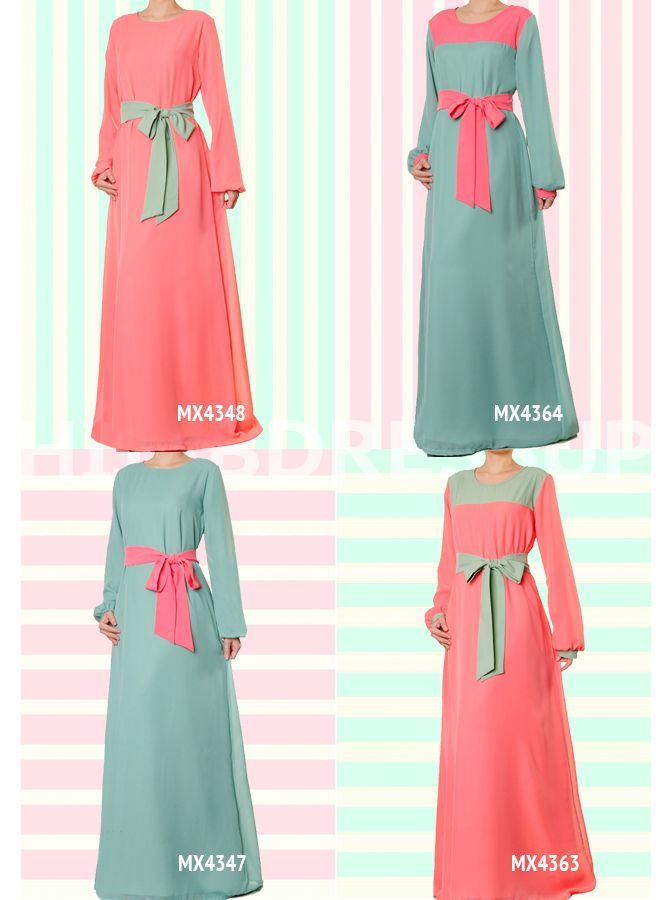Hijab Dress Up #Pastel #Chiffon #HijabDressUp