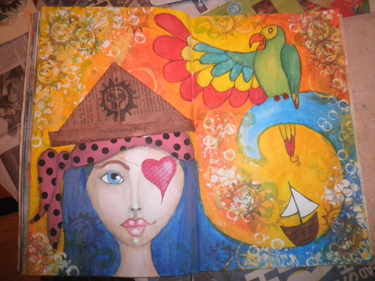 Ahoy Matey! Inspired by Art, Heart, & Healing a free online course by Willowing. By Jackie Peniuk