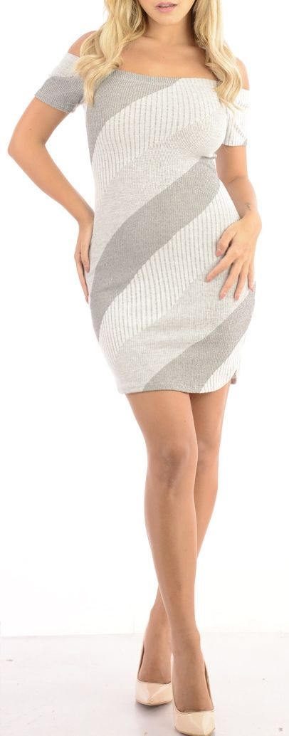 Fixate (Grey)-Great Glam is the web's best online shop for trendy club styles, fashionable party dresses and dress wear, super hot clubbing clothing, stylish going out shirts, partying clothes, super cute and sexy club fashions, halter and tube tops, bell