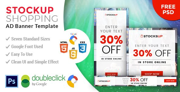 Stocksup   Shopping HTML 5 Animated Google Banner - CodeCanyon Item for Sale