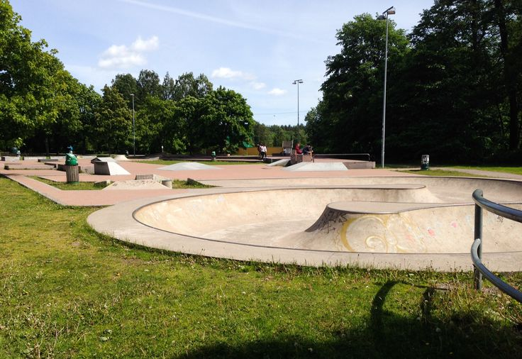 Micropolis is made out of granite, concrete, grass, bushes and trees. The main idea was to create a public skatepark that would offer an architectural experience for a regular citizen and would feel as a natural streetspot for a skater. Natural means that it would have its own character as permanent public space and wouldn't seem that it's built just for the skater. Photo: Elina Pitkänen. #Finland #Helsinki #Skatepark #Micropolis #Hobby #Sport #Kids www.visithelsinki.fi