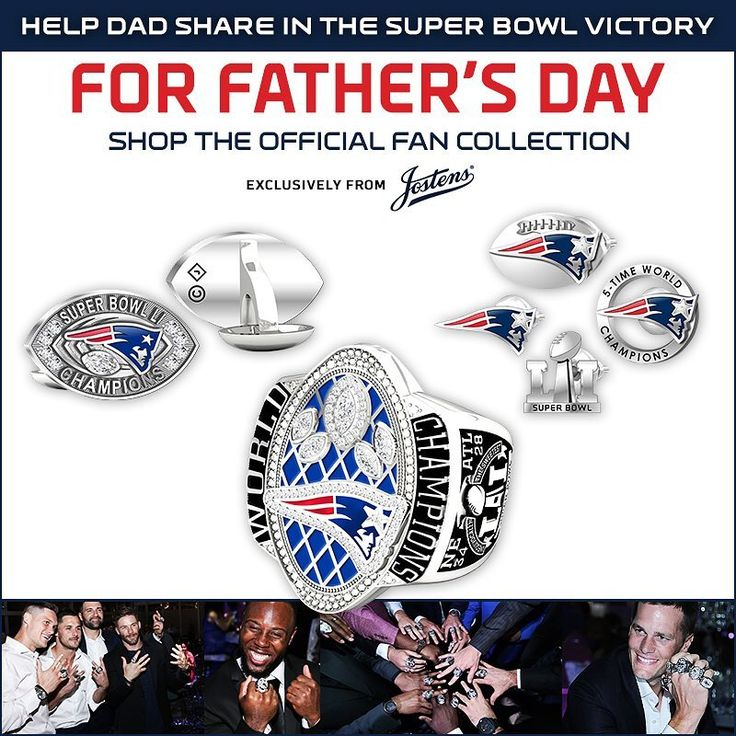 Celebrate dad AND 💍 No. 5. Shop the Official Fan Collection this Father's Day, available at the #Patriots Pro Shop - link in bio!