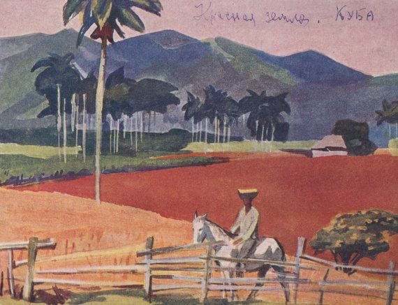 Cuba. Collection / Set of 8 Vintage Prints, Postcards -- 1960s-1980s  Custom Set without cover 4x6x8 (postcard), has not been written on, good vintage condition